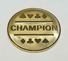 Gold Plated Champion Coin Great Poker Tournament or League Trophy