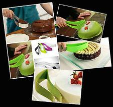 Verde Casa Cocina nivel de partido De Silicona Torta / Pastel Rebanador Cortador Espátula