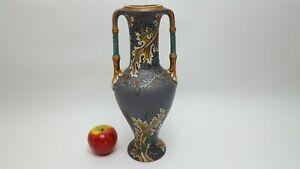 Vase Mettlach Villeroy und Boch 1907Henkelhalsvase 34cm