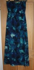 H and M  Blue  Strapless Maxi Dress Size 16 New without Tags