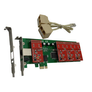 TDM410E 4FXO Asterisk card Low profile PCI express card support elastix trixbox