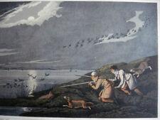 Antique Hand Colored Aquatint H.Alken WILD FOWL SHOOTING 1820 Hunting, Sport