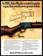 1977 MARLIN Model 39 Lever Action Rifle AD w/ original 1891 patent drawing
