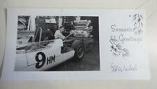 CHRISTMAS CARD-CAR RACER ED WALSH  w/pic original signature of Ed J Walsh