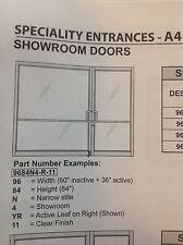 "Commercial glass door, auto showroom, OVERSIZED 96"" x86"" opening New in Box"