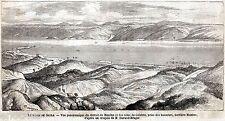 STRETTO DI MESSINA: Calabria dalla Sicilia. Risorgimento. Stampa Antica. 1860