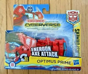 NEW, Transformers Cyberverse Action Attackers: 1-Step Changer Optimus Prime Toy