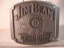 Jim Beam Kentucky Straight Bourbon Whiskey Pewter Belt Buckle