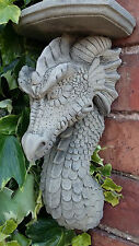 Stone Garden Gothic Dragon Corbel Wall Candle Shelf Plaque Ornament
