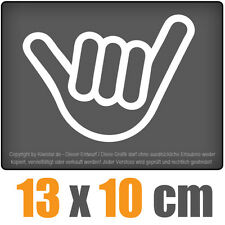 Hang Loose 19 x 7 cm JDM Decal Sticker Auto Car Weiß Scheibenaufkleber