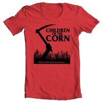 Children of Corn T-shirt retro 80s horror movie The Shining 100% cotton tee