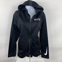 Nike Dri-Fit Full Zip Coat Women's Size Small Black Athletic Track Jacket Swoosh