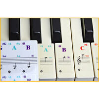 Colorful Music Keyboard Piano Stickers For 54, 37 ,61 or 88-KEY Piano Removable