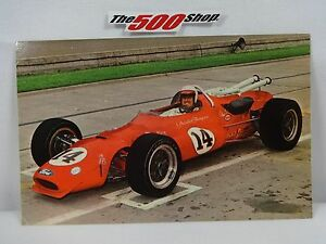 #14  A. J. Foyt 1967 Indianapolis 500 Sheraton-Thompson Racing Postcard