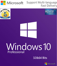 MS Windows 10 Pro Activation Licence Genuine Code Key 32/64 bits WorldWide