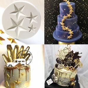 3D Silicone Stars Fondant Mold Cake Sky Decor Mould Chocolate Sugarcraft Baking
