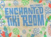 Walt Disney Parks Authentic Enchanted Tiki Room Birds Flowers Gray T-Shirt Large