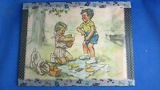 ancienne affichette germaine bouret le pique nique litho