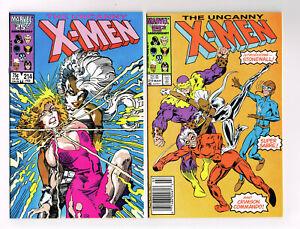 THE UNCANNY X-MEN #214-220 MARVEL COMICS LOT 1987 NM OB 7 ISSUES COPPER AGE