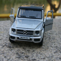 Car Model Mercedes-Benz G63 AMG Pull back function Silve 1:35 Alloy Diecast Toys