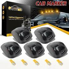 5) Smoke Roof Running Light Cab Marker 264143BK+ Amber 6-5730 LED for 99-16 Ford