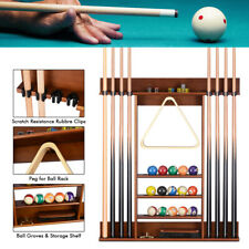 Pool 8 Cue Rack Stick Holder Wall Mount 15 Ball Holder Billiard Table Accessorie