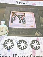 CS240A, SALE, The Carriage House, Swan, OOP, cross stitch sampler, NEW