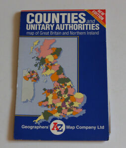 COUNTIES & UNITARY AUTHORITIES Geographers A-Z Map of Great Britain & NI (2009)