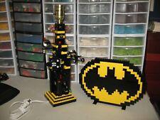 LEGO BATMAN LAMP AND BATMAN LOGO    GAME ROOM/ KIDS BEDROOM