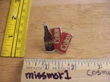 1970s pin tie tac Coca Cola Bottle Caffeine Free Coke Can pin mini vintage HTF