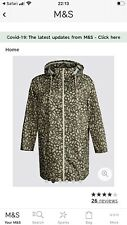 M&S Collection CURVE Printed Anorak Jacket with Stormwear Size 22