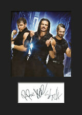 THE SHIELD (Reigns, Rollins & Ambrose) #2 (WWE) Signed Photo A5 Mounted Print