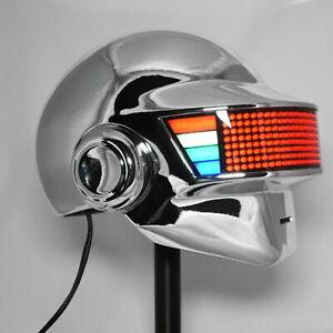 Daft Punk Helmet Thomas Discovery Era with LEDs Chromed Mask DJ