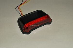 Red Rear LED Rain Light for Road Race & Track Day Motorcycles - ACU Compliant