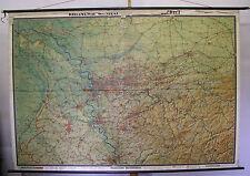 School Wall Map Map Wall Map Rhine Ruhr we were guests Pott 244x169 Duisburg ~ 1955