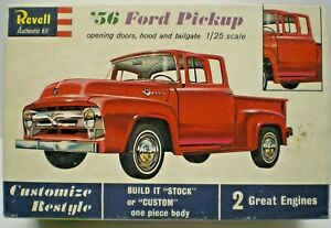 VINTAGE 1962 REVELL 1956 FORD PICKUP 1:25 SCALE MODEL H 1283:198