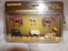 Bachmann Scene Scapes 33119 Horses Figure Pack MIB HO Scale New 6 Horses