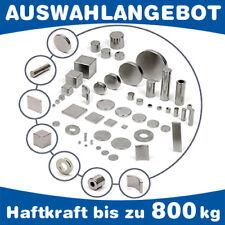 Neodym Magnete (NdFeB) bis 800kg Haftkraft Scheibe Quader Ring Würfel Konus Stab