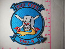 VMO-4 Evil Eyes With Skull And Crossed Bombs Embroidered Vintage Patch  b-1
