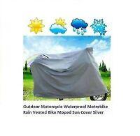 Outdoor Motorcycle Waterproof Motorbike Rain Vented Bike Moped Sun Cover _Small