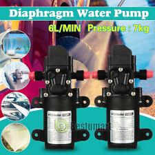 2x12v Water Pump Diaphragm Self Priming Sprayer Auto Switch For Rv Camper Marine
