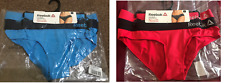 Womens Reebok 2 Pack Performance Sports Brief Underwear - Black/Pink Cyan/Navy