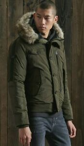 SUPERDRY Chinook Rescue Bomber Jacket, Olive Green, Size 3XL (46in Chest) BNWT