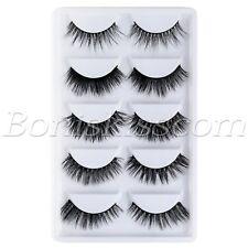 5 Pairs 3D Thick Multi-layer Handmade 100% Mink Hair False Eye Lashes Eyelashes