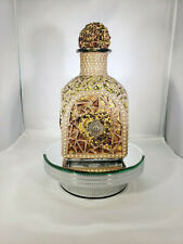 Mosaic Gold Patron Bottle - Hand Designed Mosaic Bottle Is For Your Home W212
