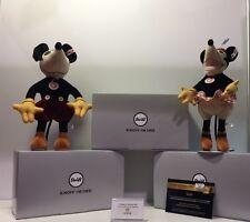 Disney 2017 D23 Expo Steiff Mickey & Minnie Mouse 683350 Plush Doll LE 23