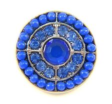 Noosa Style Chunks Snap Button Charms Chunk Charm Snaps Cobalt Blue Beaded 18mm