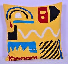 "18"" INDIAN PILLOW CUSHION COVER Hand Suzani Embroidery Indian Home Decor"