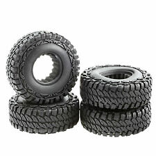 "Rubber Tires 1.9"" x 1.6"" x 4.4""  OD 114mm w/ Foam for 1.9"" Wheel RC Crawler 4pcs"