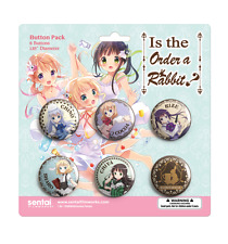 IS THE ORDER A RABBIT? 6Pack BUTTONS BRAND NEW & SEALED LICENSED PRODUCT